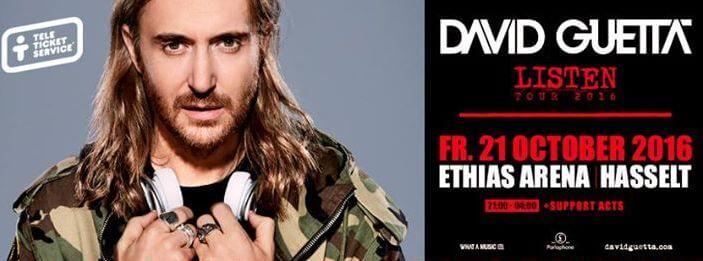 David Guetta Hasselt ondersteund met VIP-deck